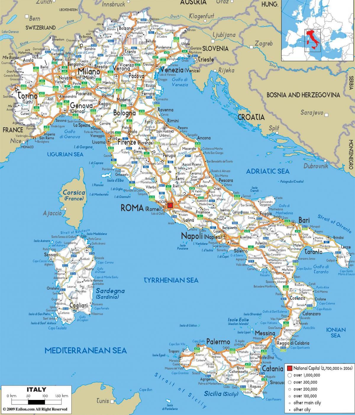 Podrobna Karta Na Italiya Podrobna Karta Na Italiya Yuzhna Evropa